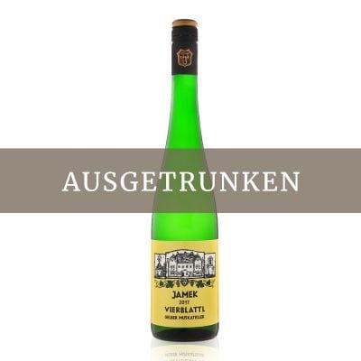 Jamek Vierblattl Gelber Muskateller 2017 0,75l ausgetrunken
